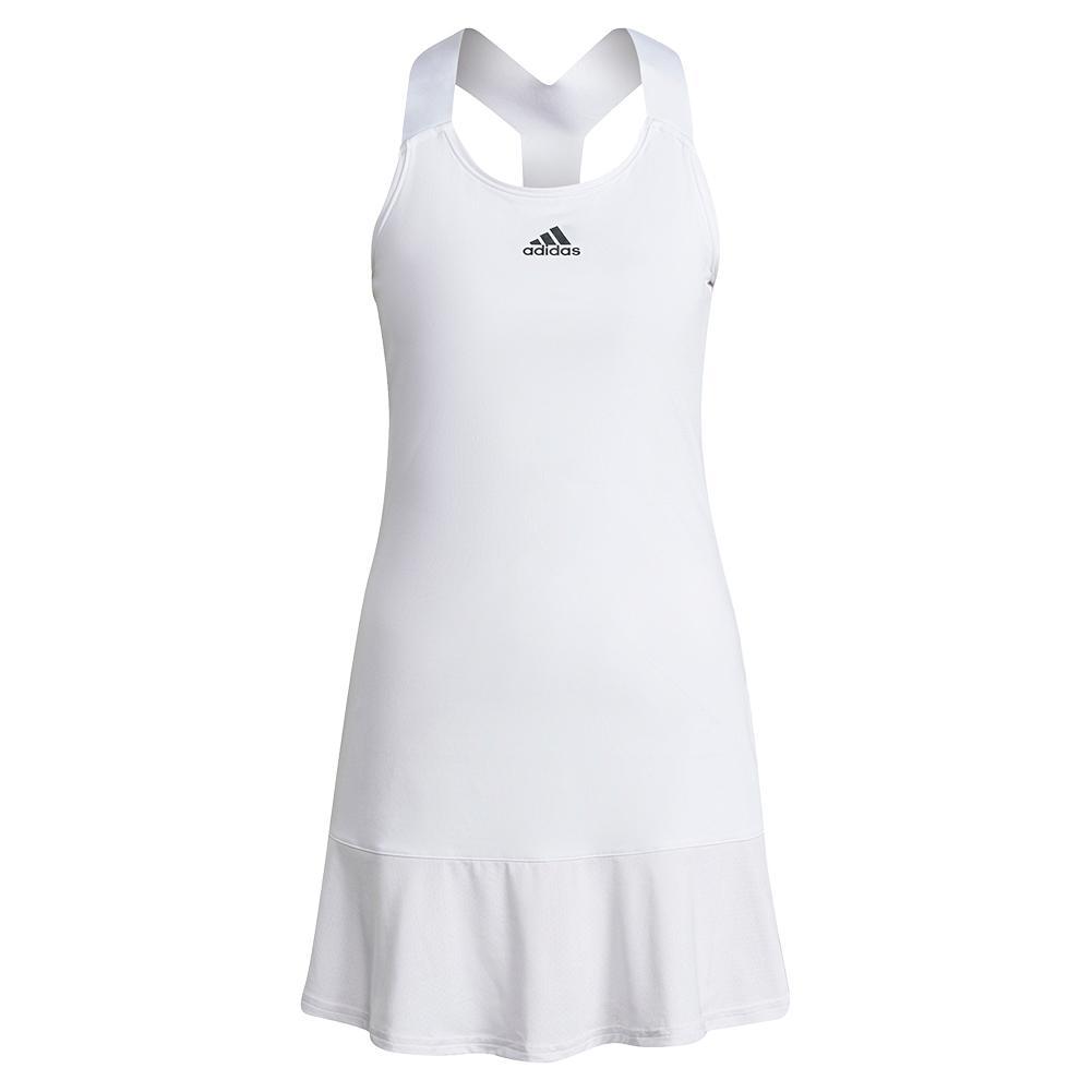 Women's Aeroready Y- Back Tennis Dress White And Black