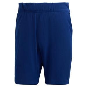 Men`s Ergo 9 Inch Tennis Short Victory Blue and White