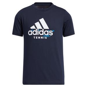Boys` Category Graphic Logo Tennis T-Shirt Legend Ink