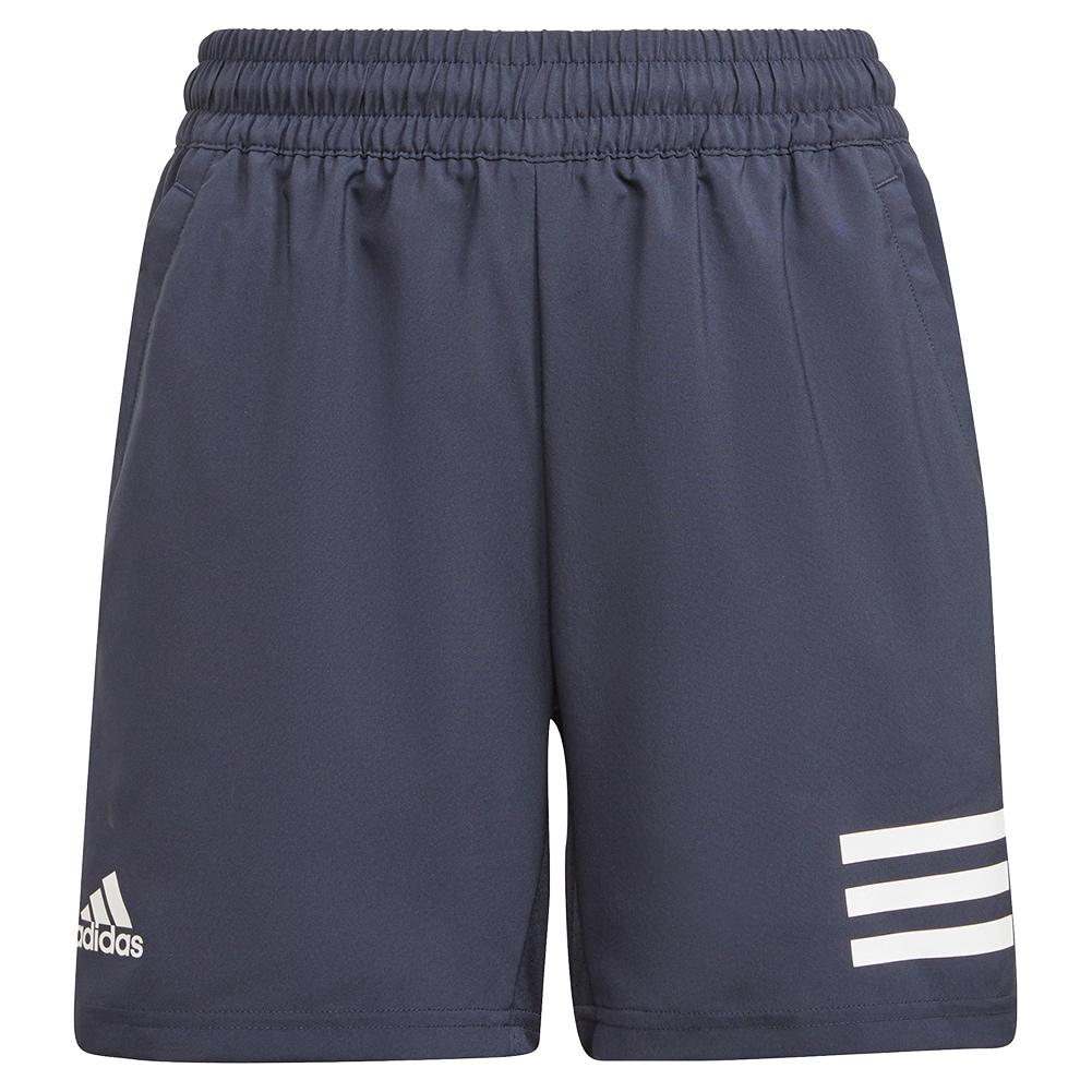 Boys ` Club 3- Stripe Tennis Shorts Legend Ink And White