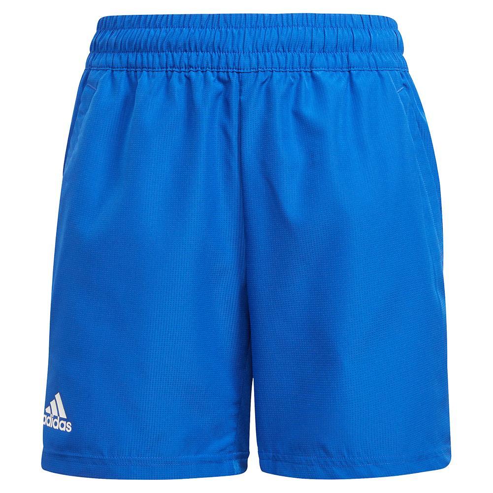 Boys ` Club Tennis Shorts Bold Blue And White