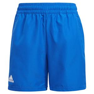 Boys` Club Tennis Shorts Bold Blue and White