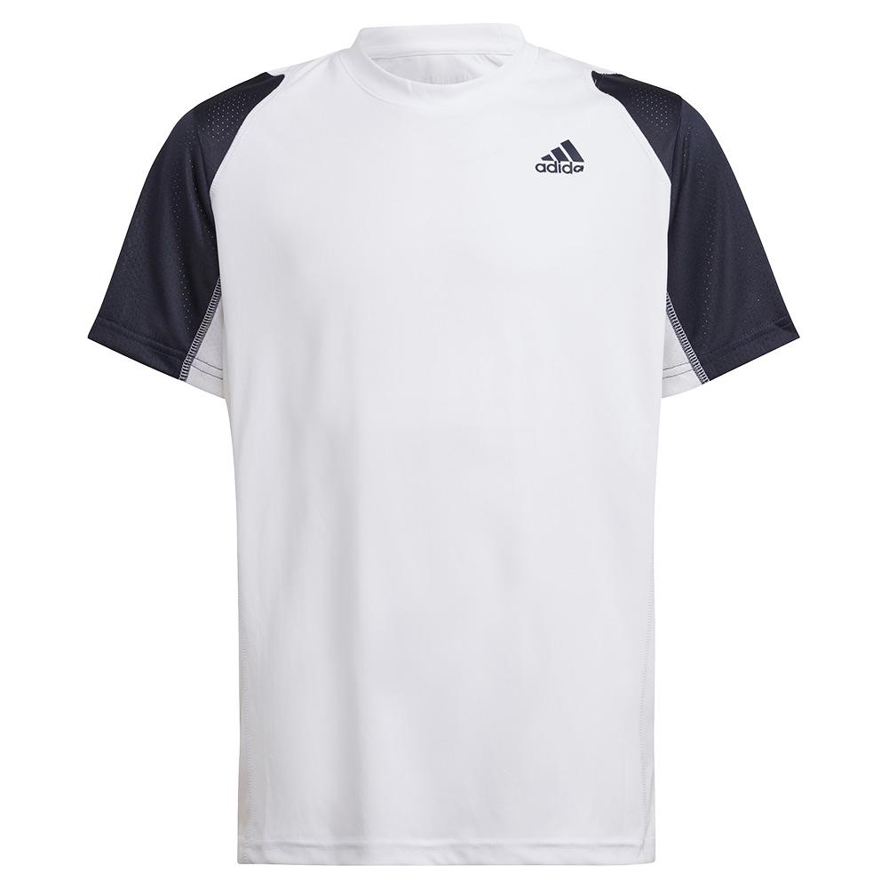 Boys ` Club Tennis Top White And Legend Ink