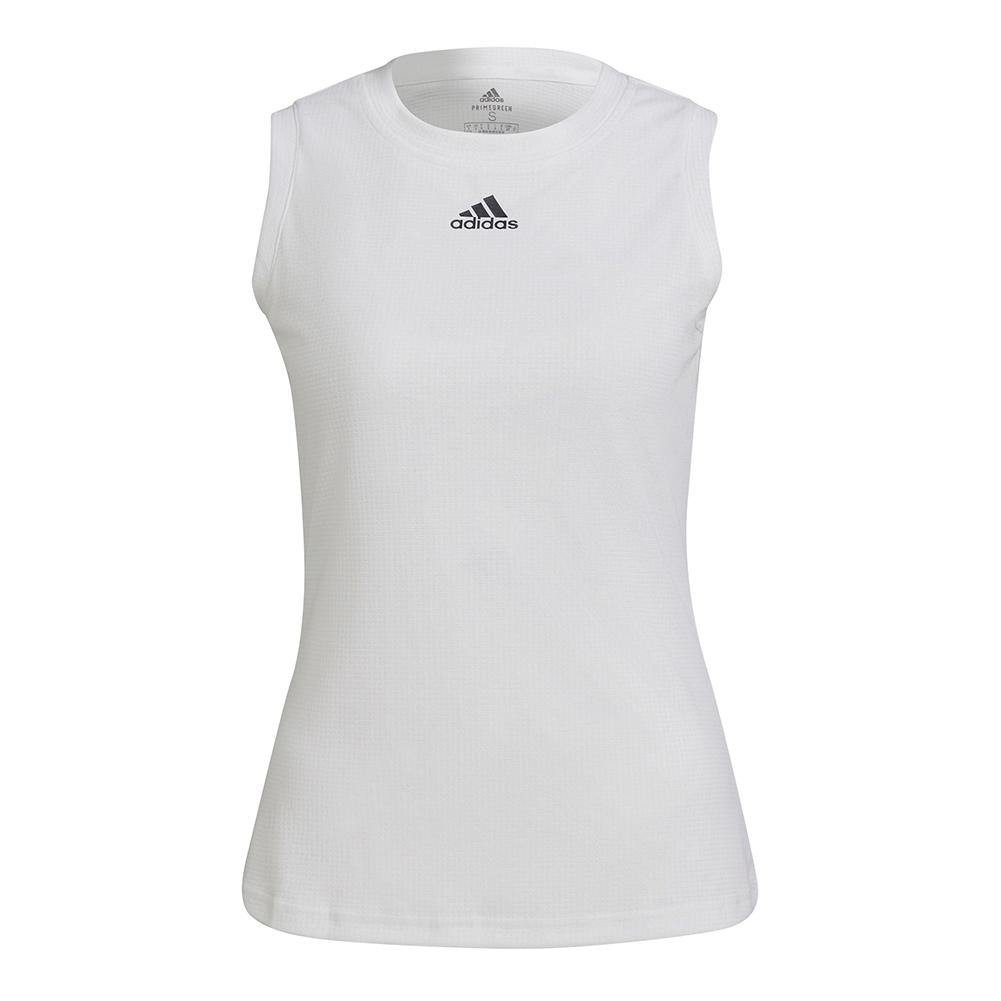 Women's Match Tennis Tank White And Black