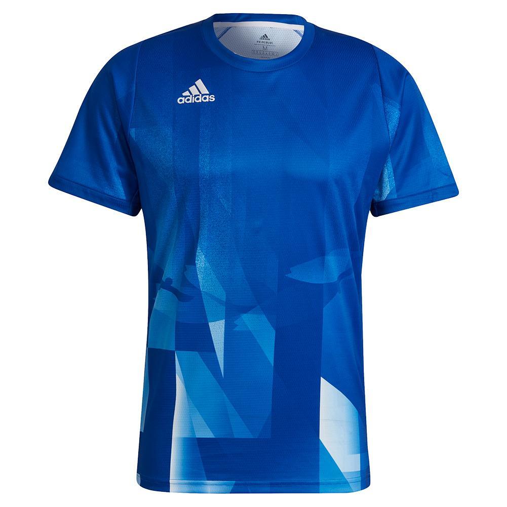 Men's Primeblue Heat.Rdy Freelift Tokyo Gr Tennis Top Collegiate Royal And White