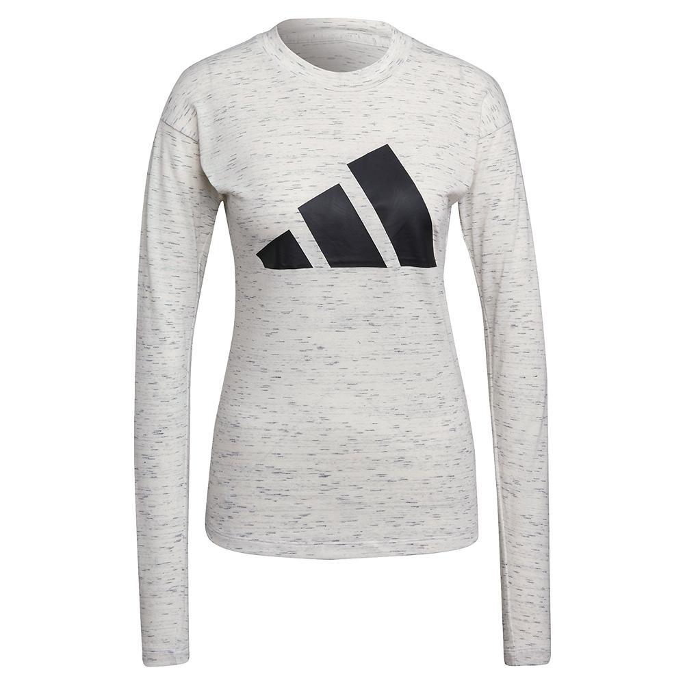 Women's Sportswear Winners 2.0 Long Sleeve Top White Melange