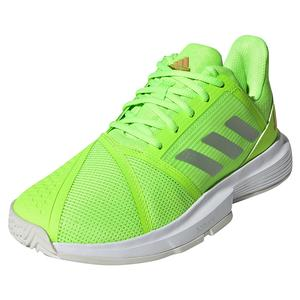 Women`s CourtJam Bounce Tennis Shoes Signal Green and Silver Metallic