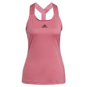 Women`s Aeroready Y-Back Tennis Tank Rose Tone and Black