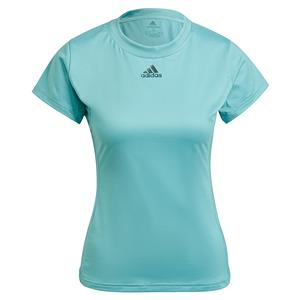 Women`s Aeroready Match Tennis Top Mint Tone and Black
