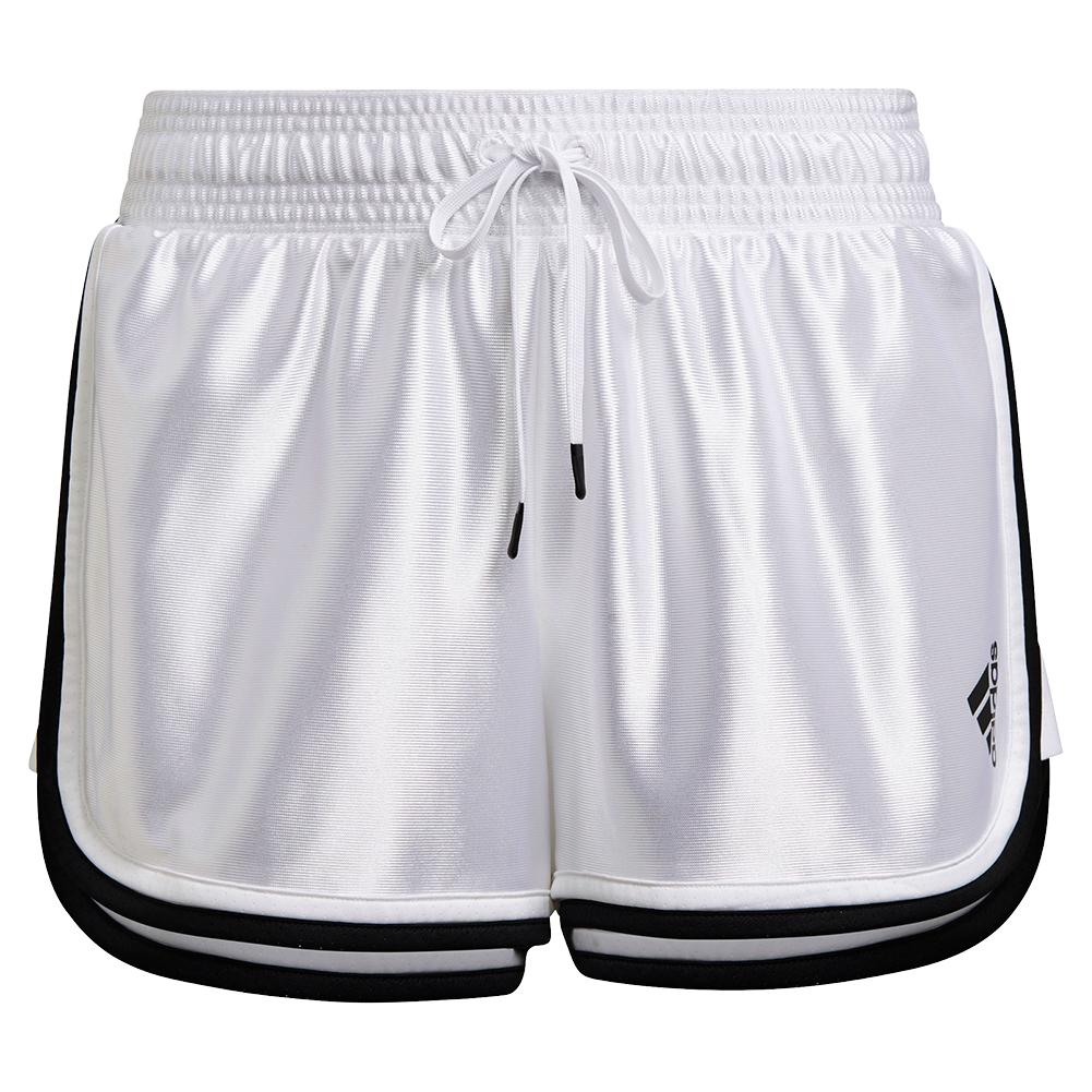 Women's Club 2.5 Inch Tennis Shorts White And Black