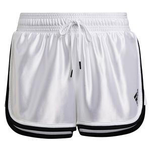 Women`s Club 2.5 Inch Tennis Shorts White and Black