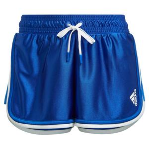 Women`s Club 2.5 Inch Tennis Shorts Bold Blue and White
