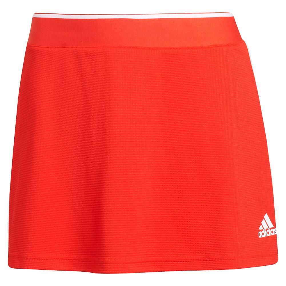 Women's Club 13 Inch Tennis Skort Vivid Red And White