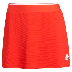 Women`s Club 13 Inch Tennis Skort Vivid Red and White