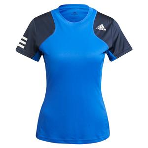 Women`s Club Tennis Top Bold Blue and White