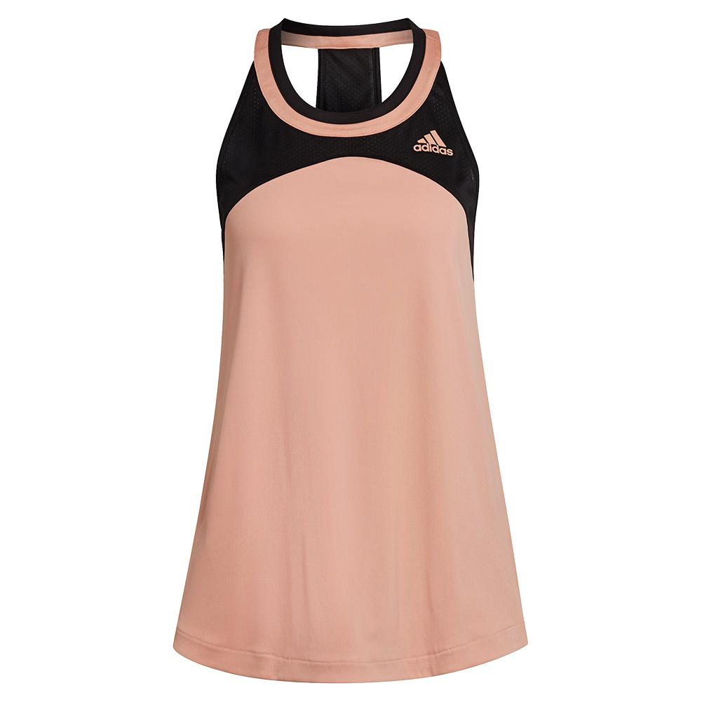 Women's Club Tennis Tank Ambient Blush And Black
