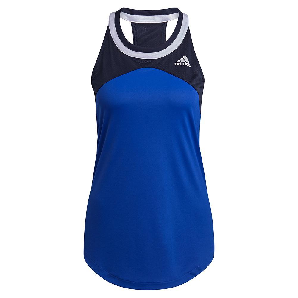 Women's Club Tennis Tank Bold Blue And Legend Ink