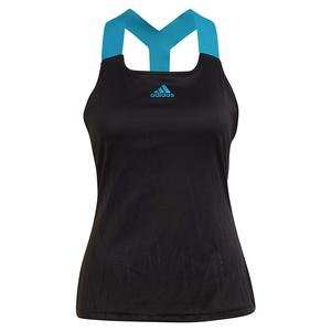 Women`s Primeblue Aeroknit Y-Back Tennis Tank Black