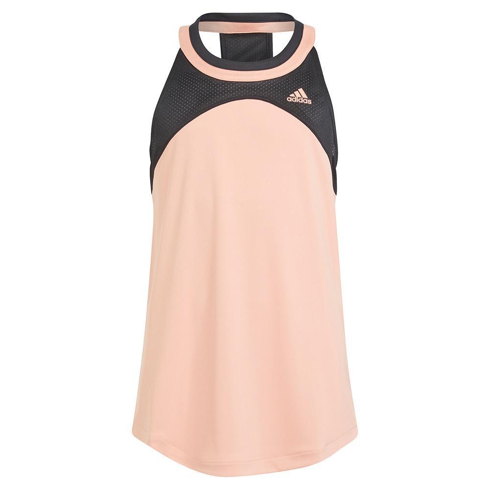 Girls ` Club Tennis Tank Ambient Blush And Black