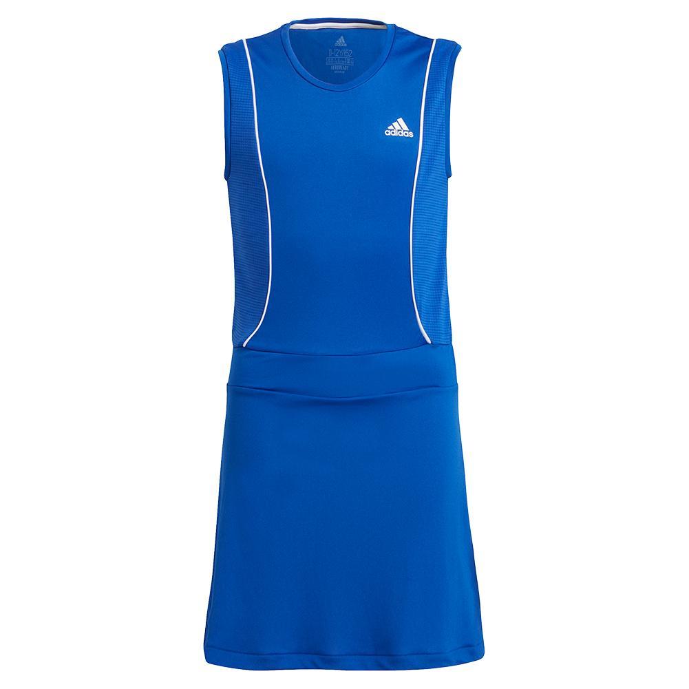 Girls ` Pop Up Tennis Dress Bold Blue And White