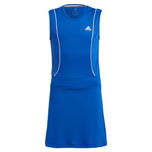 Girls` Pop Up Tennis Dress Bold Blue and White