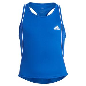 Girls` Pop Up Tennis Tank Bold Blue and White