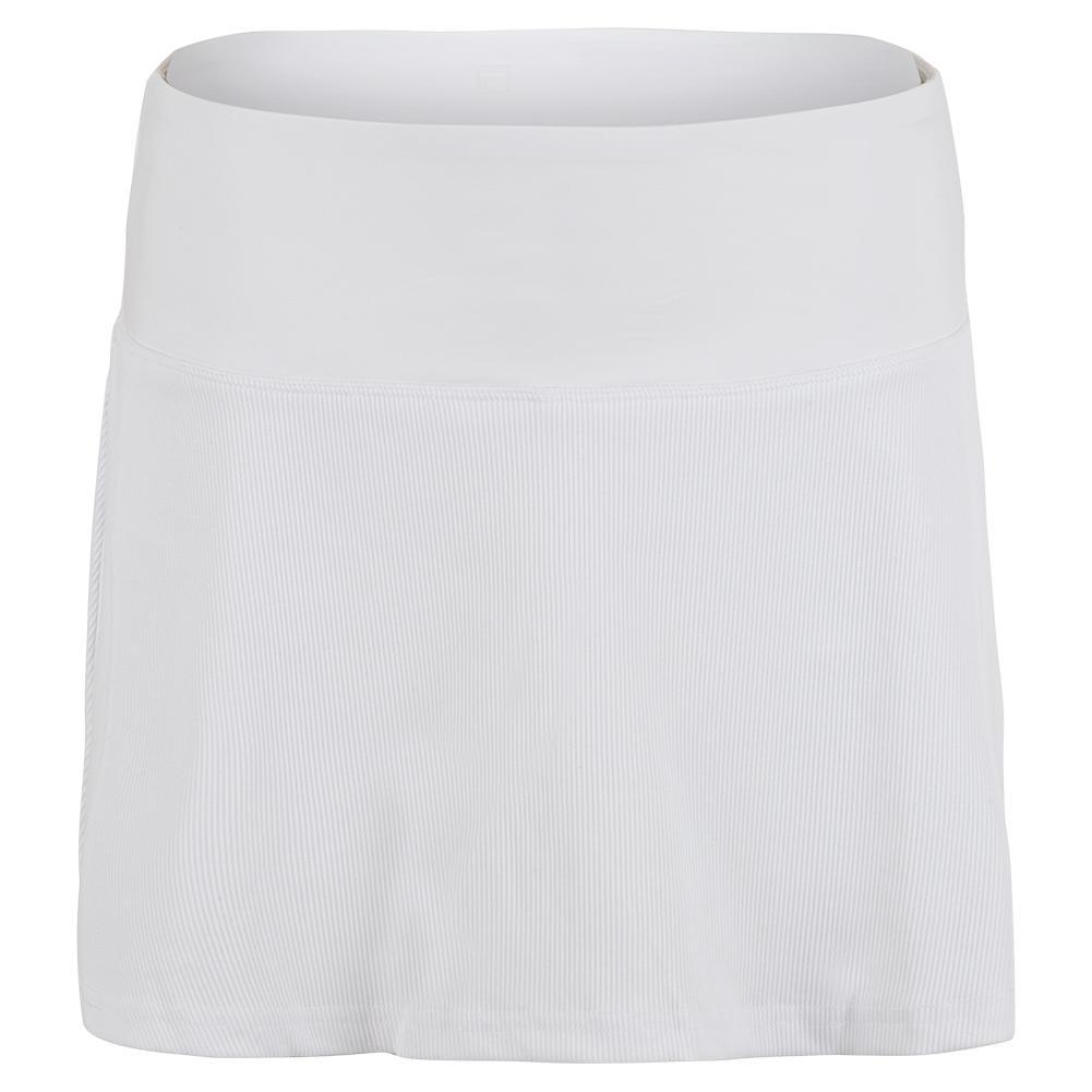 Women's White Line 13.5 Inch Tennis Skort White