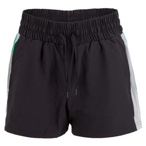Women`s Fit and Fierce Training Short Nine Iron and White