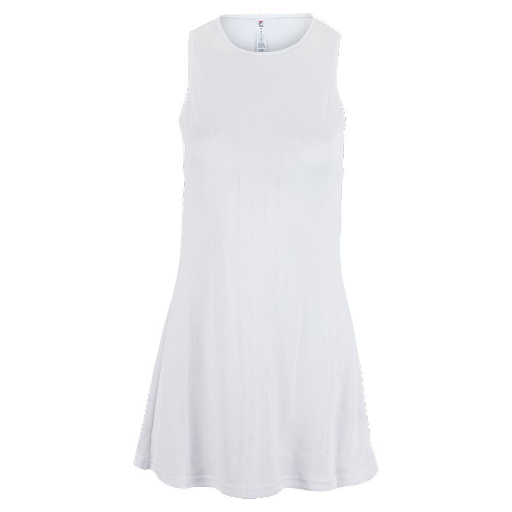 Women's White Line Tennis Dress White