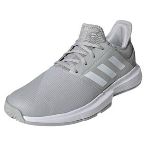 Men`s GameCourt Tennis Shoes Grey Two and White