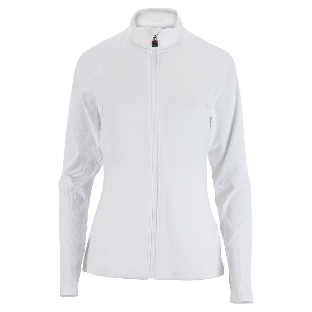 Women's White Line Tennis Jacket White