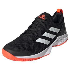 Men`s Court Control Tennis Shoes Core Black and White