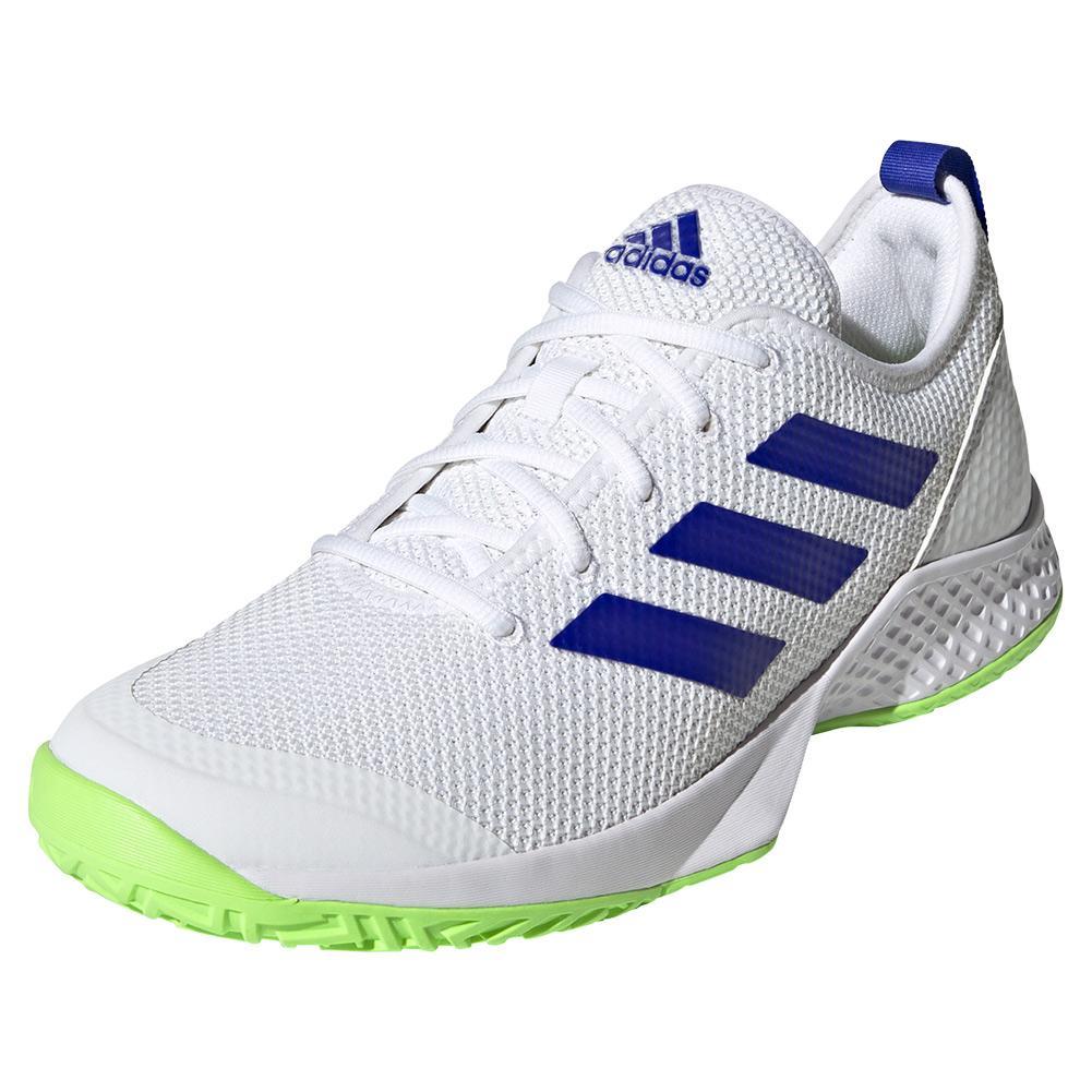 adidas Men`s Court Control Tennis Shoes White and Core Black ...