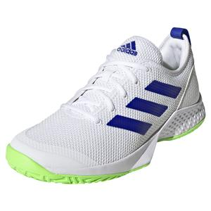 Men`s Court Control Tennis Shoes White and Blue