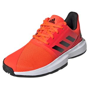Juniors` CourtJam xJ Tennis Shoes Solar Red and Core Black