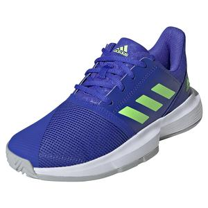Juniors` CourtJam xJ Tennis Shoes Sonic Ink and Signal Green