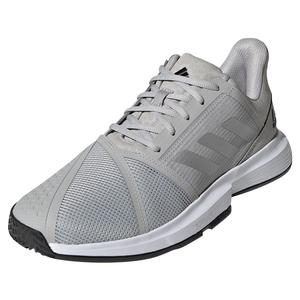 Men`s CourtJam Bounce Tennis Shoes Grey Two and Silver Metallic