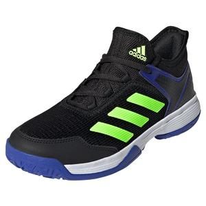 Juniors` Ubersonic 4 K Tennis Shoes Core Black and Signal Green