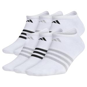Women`s Superlite No Show Socks 6-Pack White and Clear Onix