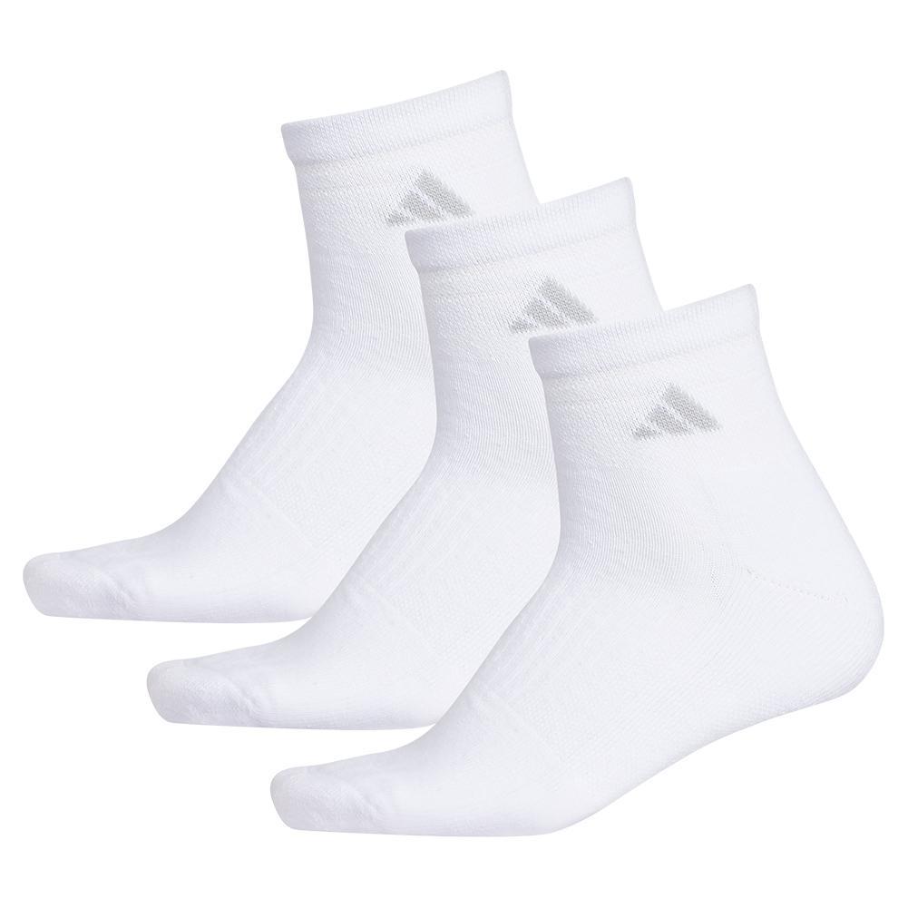 Women's Cushioned Ii Quarter Socks 3- Pack White And Clear Onix