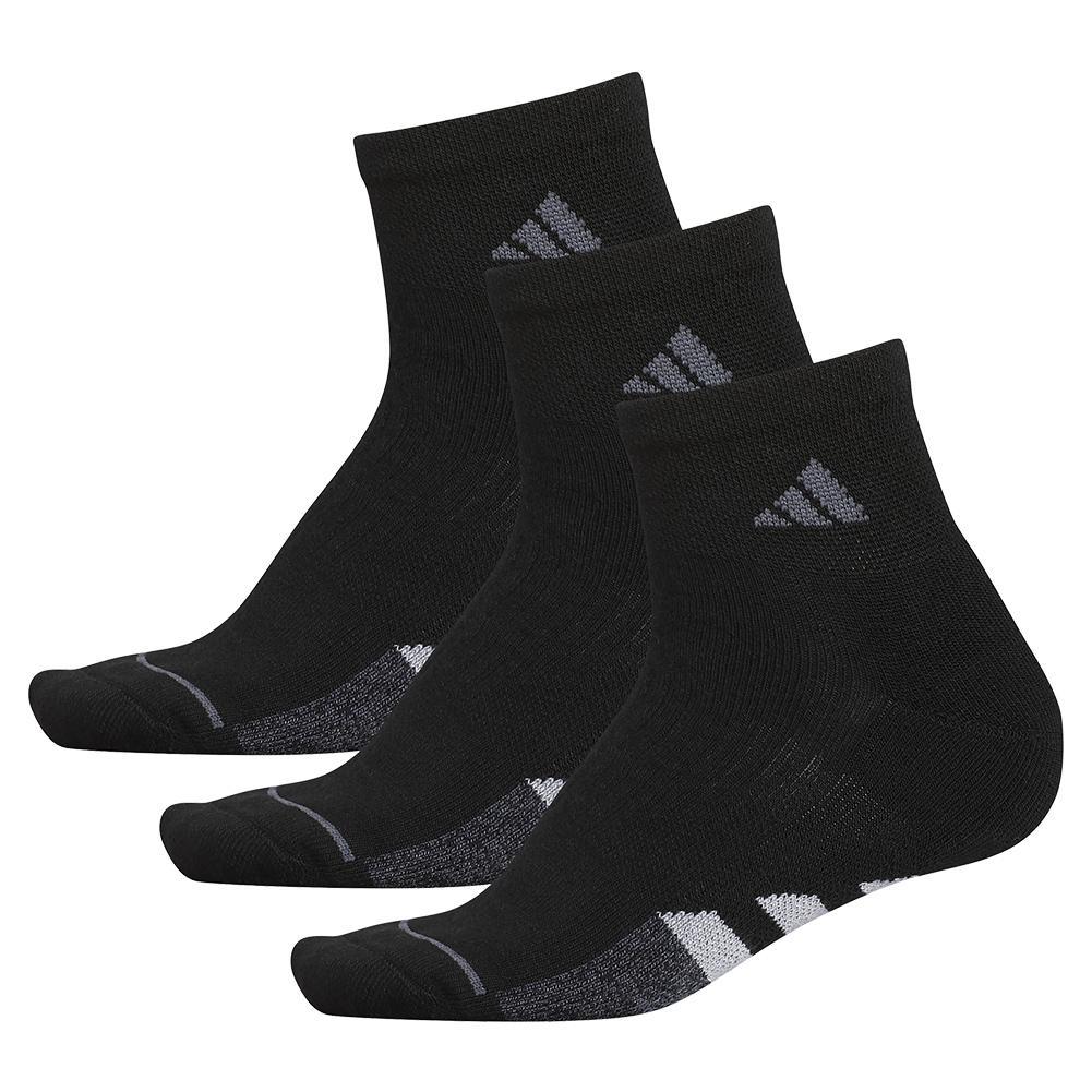 Women's Cushioned Ii Quarter Socks 3- Pack Black And Clear Onix