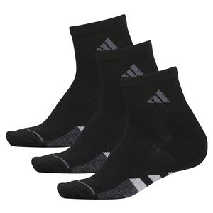 Women`s Cushioned II Quarter Socks 3-Pack Black and Clear Onix