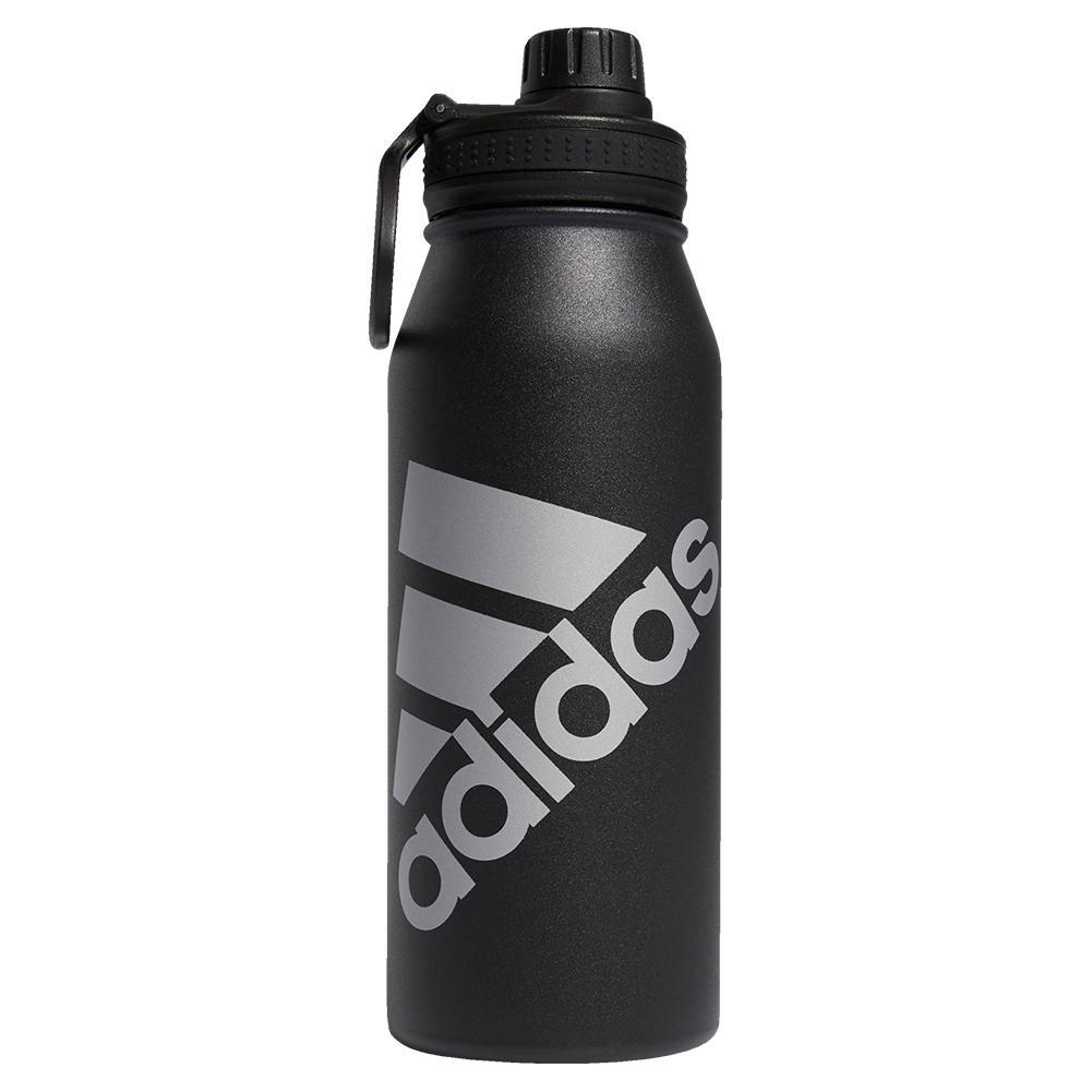 Steel Metal Bottle 1l Black And Silver Metallic