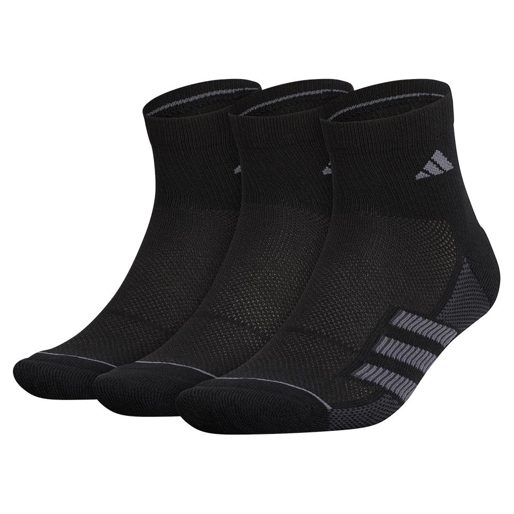 Mens Superlite Stripe Ii Quarter Socks 3- Pack Black And Onix
