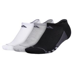 Women`s Superlite Stripe II No Show Socks 3-Pack Black and Heather Grey