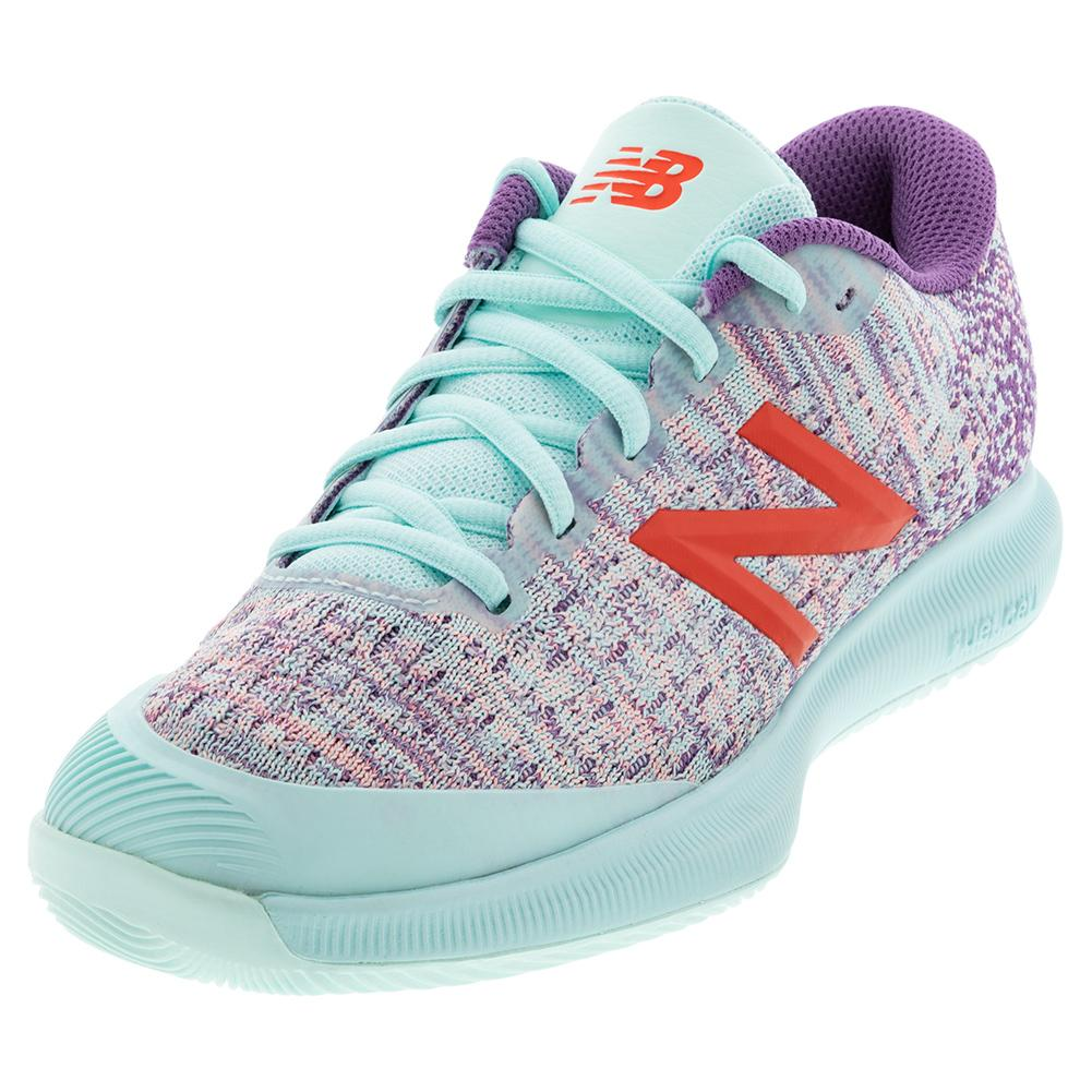 Women's Fuelcell 996v4 B Width Tennis Shoes White Mint And Sour Grape