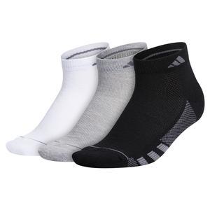 Women`s Superlite Stripe II Low Cut Socks 3-Pack Black and Grey