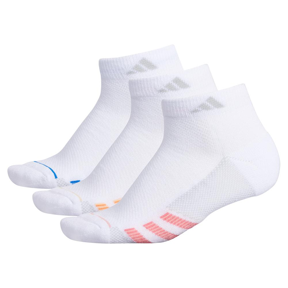 Women's Superlite Stripe Ii Low Cut Socks 3- Pack White And Glory Pink