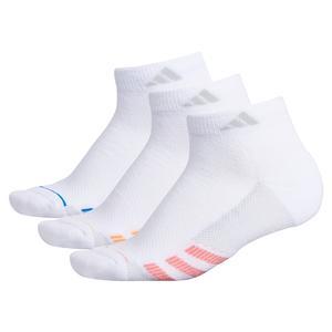 Women`s Superlite Stripe II Low Cut Socks 3-Pack White and Glory Pink