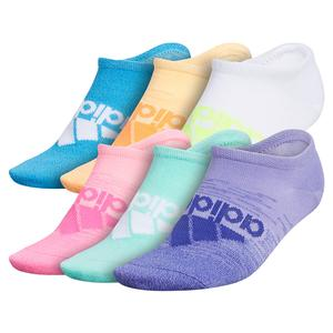 Girls` Superlite Badge of Sport II No Show Socks 6-Pack Light Purple and Mint